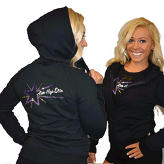 Fitted Zip Up Hoodie Featuring Aim High Elite Logo on Back