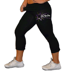 Foldover Capris Featuring Rhinestone Aim High Elite Logo