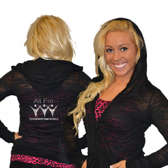 Burnout Hoodie Featuring All Pro Rhinestone Logo