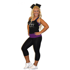 Everyday Essentials Practicewear Razor Tank and Leggings Set Featuring All Pro Logo in Rhinestones