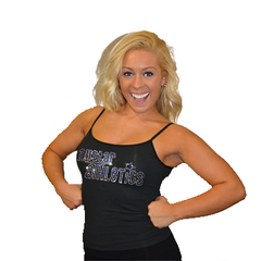 Cami Tank Top Featuring Allstar Athletics Rhinestone Logo