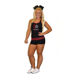 Practicewear Tank and Short Set Featuring American Gymnastics Logos in Rhinestones