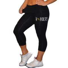 Leggings Featuring Andrew Tbolts Rhinestone Logo