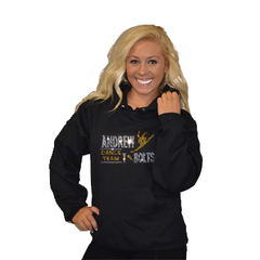Pullover Style Hoodie Featuring Rhinestone Andrew Tbolts Logo