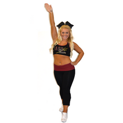 Practicewear Sports Bra and Capri Set Featuring Arizona State University Logo in Rhinestones