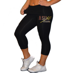 Leggings Featuring Arizona State University Rhinestone Logo