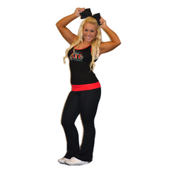 Practicewear Tank and Foldover Yoga Set Featuring Avenue to Broadway Logo in Rhinestones