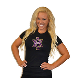 Fitted T Shirt Featuring AVHS Logo in Rhinestones