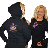 Fitted Zip Up Hoodie Featuring AVHS Logo on Back