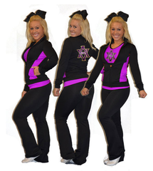 Flex Fit Warmup Jacket Featuring Rhinestone AVHS Logo