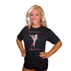 Basic T Shirt featuring Rhinestone Ballet Academy of Moses Lake Logo