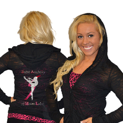 Burnout Hoodie Featuring Ballet Academy of Moses Lake Rhinestone Logo