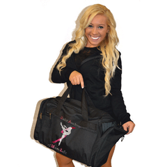 Bling Duffel Bag Featuring Ballet Academy of Moses Lake Rhinestone Logo