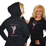 Fitted Zip Up Hoodie Featuring Ballet Academy of Moses Lake Logo on Back