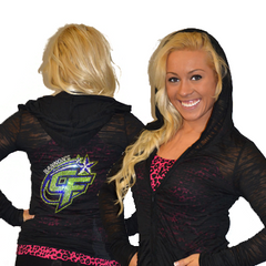Burnout Hoodie Featuring Bannons Cheer Force Rhinestone Logo