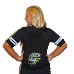 Bling Cinch Bag Featuring Bannons Cheer Force Rhinestone Logo