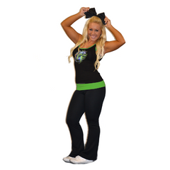 Practicewear Tank and Foldover Yoga Set Featuring Bannons Cheer Force Logo in Rhinestones