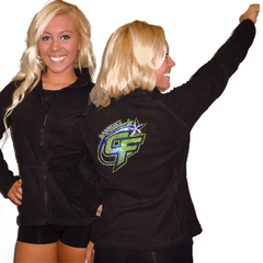 Fleece Jacket Featuring Bannons Cheer Force Rhinestone Logo on Back