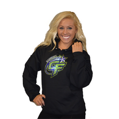 Pullover Style Hoodie Featuring Rhinestone Bannons Cheer Force Logo