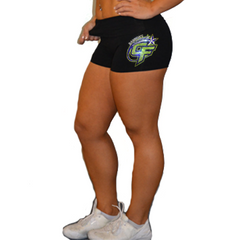 Rollover Shorts Featuring Bannons Cheer Force Rhinestone Logo
