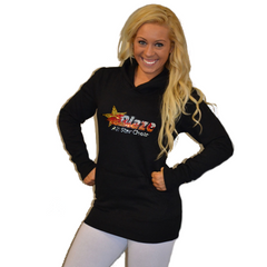 Boyfriend Style Longer Length Hoodie Featuring Blaze Allstars Logo