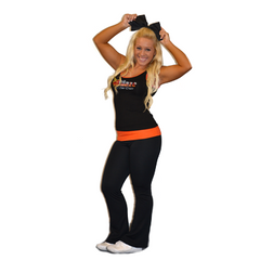 Practicewear Tank and Foldover Yoga Set Featuring Blaze Allstars Logos in Rhinestones