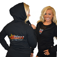 Fitted Zip Up Hoodie Featuring Blaze Allstars Logo on Back