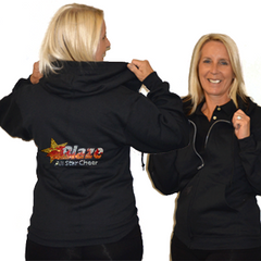 Jerzees Relaxed Fit Hoodie Featuring Blaze Allstars Rhinestone Logo