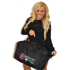 Bling Duffel Bag Featuring Broadway Bound Rhinestone Logo