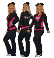 Flex Fit Warmup Jacket Featuring Rhinestone Broadway Bound Logo