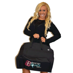 Bling Garment Bag Featuring Broadway Bound Rhinestone Logo