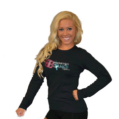 Long Sleeve T-Shirt Featuring Broadway Bound Logo in Rhinestones