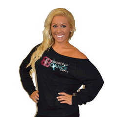 Off the Shoulder Summer Slouchy Featuring Broadway Bound Rhinestone Logo