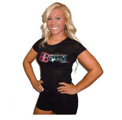 Burnout Tshirt Featuring Broadway Bound Rhinestone Logo