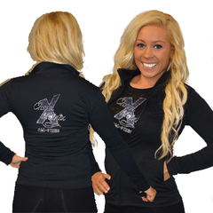 Cadet Jacket Featuring Cheer Matrix Rhinestone Logo