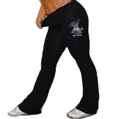 Foldover Yoga Pants Featuring Cheer Matrix Rhinestone Logo
