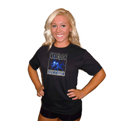 Basic T Shirt featuring Rhinestone Colorado School of Dance Logo