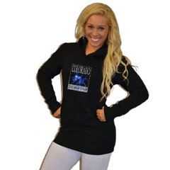 Boyfriend Style Longer Length Hoodie Featuring Colorado School of Dance Logo