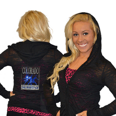 Burnout Hoodie Featuring Colorado School of Dance Rhinestone Logo