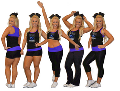 Everyday Essentials Practicewear Sports Bra and Capri Set Featuring Colorado School of Dance Logo in Rhinestones