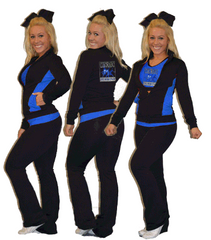 Flex Fit Warmup Jacket Featuring Rhinestone Colorado School of Dance Logo