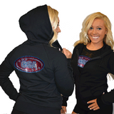 Fitted Zip Up Hoodie Featuring CSA Logo on Back
