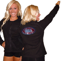 Fleece Jacket Featuring CSA Rhinestone Logo on Back