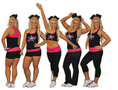 Everyday Essentials Practicewear Sports Bra and Capri Set Featuring Dream Team Logo in Rhinestones