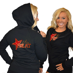 Fitted Zip Up Hoodie Featuring Elite Heat Logo on Back