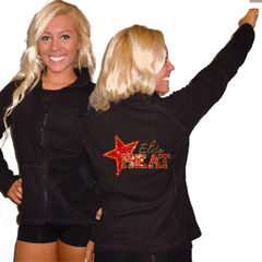 Fleece Jacket Featuring Elite Heat Rhinestone Logo on Back