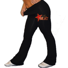 Foldover Yoga Pants Featuring Elite Heat Rhinestone Logo