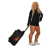 Bling Rolling Duffel Bag Featuring Elite Heat Rhinestone Logo