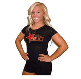 Burnout Tshirt Featuring Elite Heat Rhinestone Logo