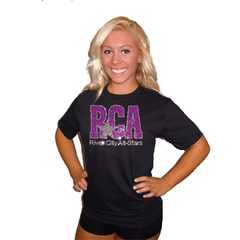 Basic T Shirt featuring Rhinestone River City Allstars Logo